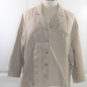 Vintage Preston & York 100 Percent Linen Jacket